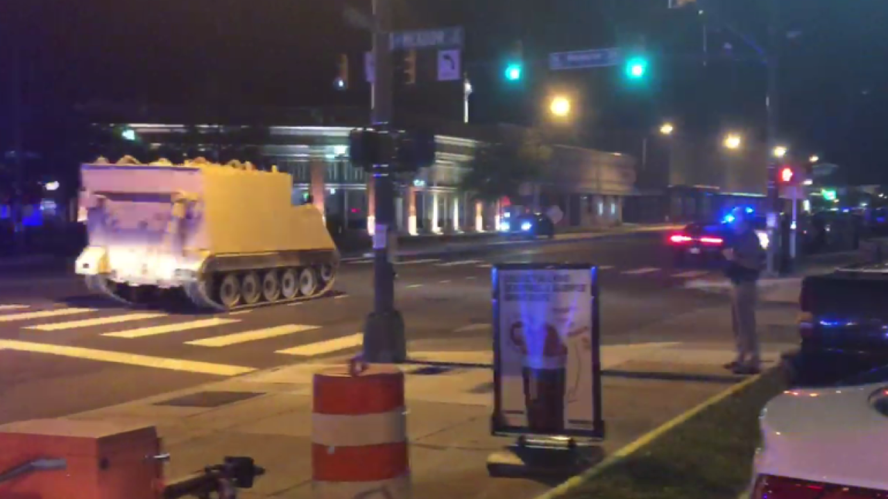 Man in custody after armored personnel vehicle driven into downtownRichmond