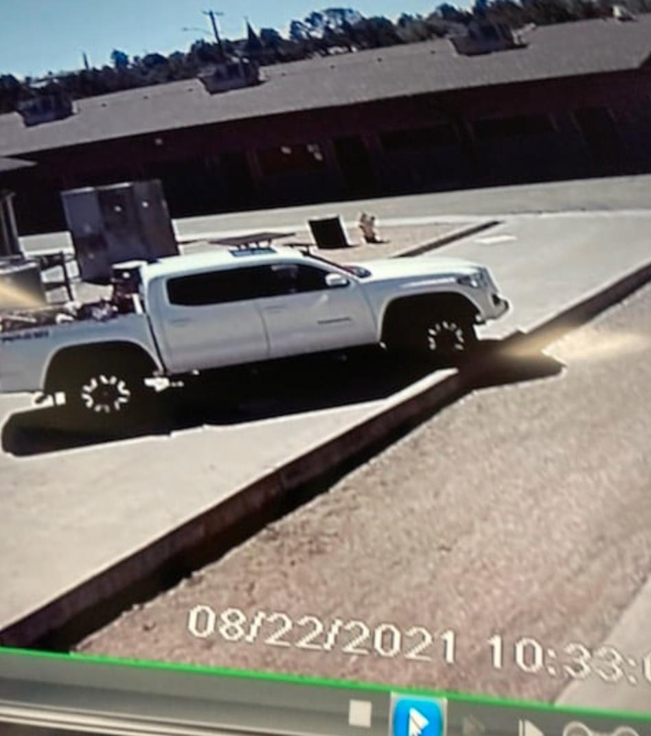 Payson armed burglary suspect's vehicle