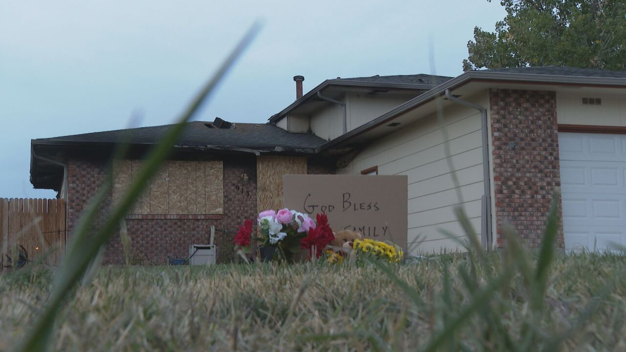 Memorial outside of Magoon home