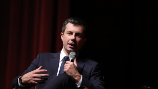 Presidential Candidate Pete Buttigieg Campaigns At Morehouse College In Atlanta