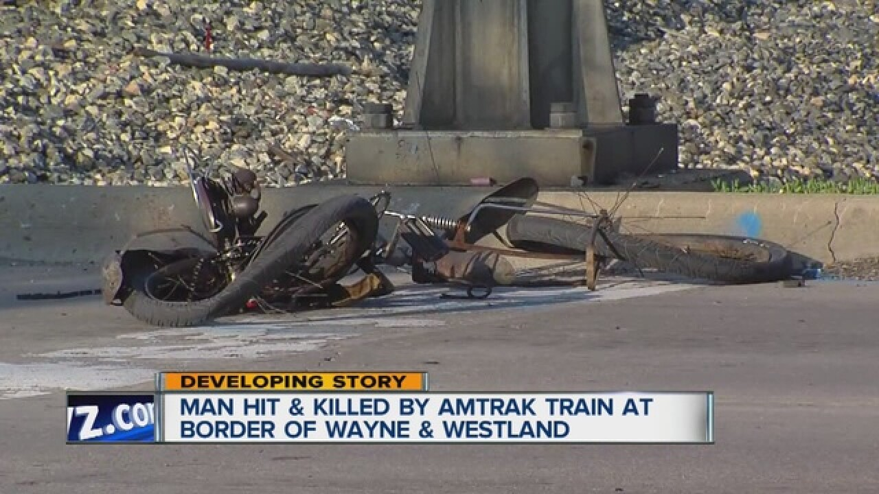 Man hit, killed by train in Wayne County
