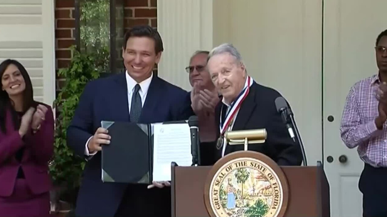 Bobby Bowden receives the inaugural Florida Medal of Freedom on April 7, 2021.jpg