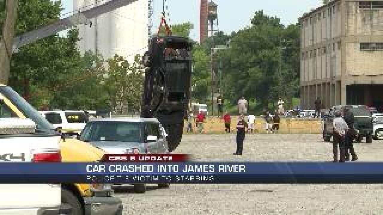 Man who drove car into James River connected to stabbing