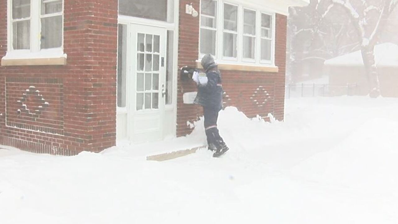 buffalo postal delivery impacted by winter storm