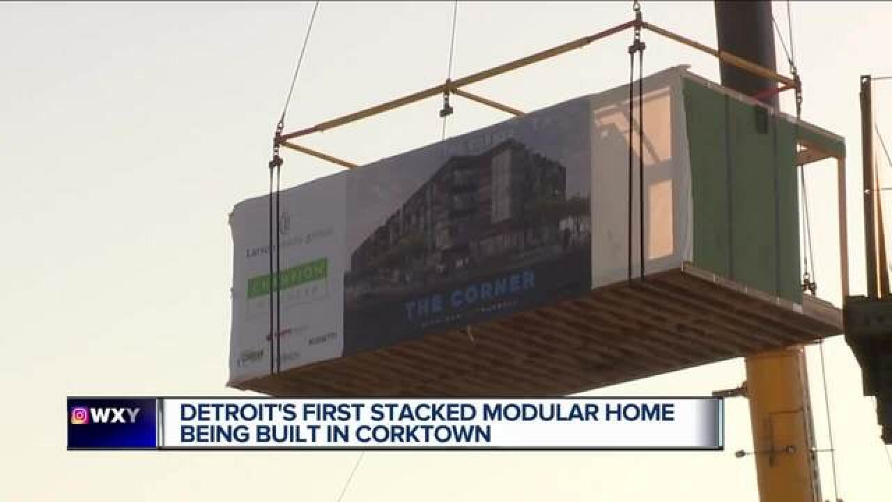Modular apartments now put in place in Corktown