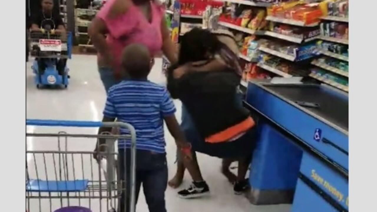 Video: Fight among family members gets physical in Florida Walmart