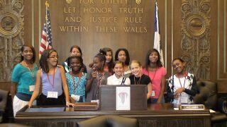 Madam President Camp takes to City Hall in Kansas City, Missouri
