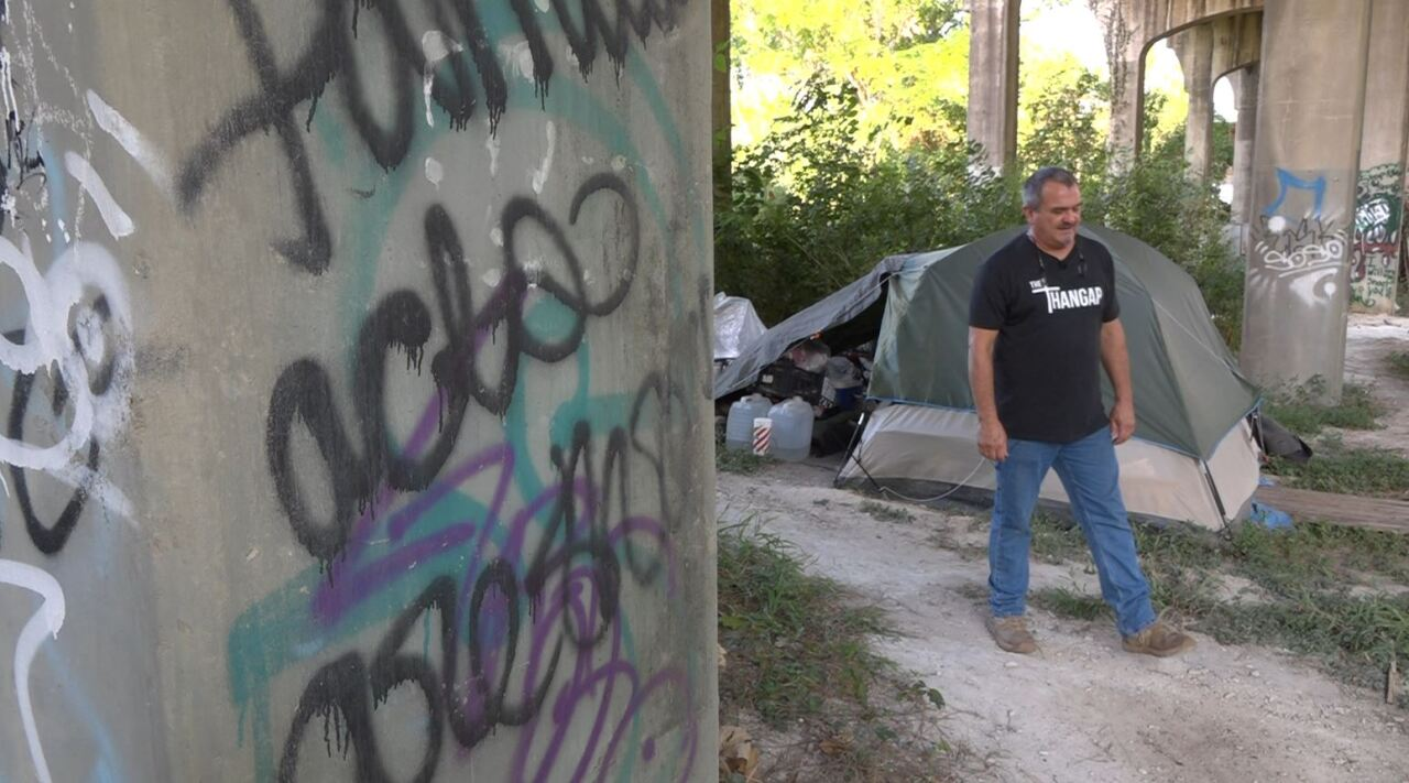 Dusty Kirks shows us around homeless camps