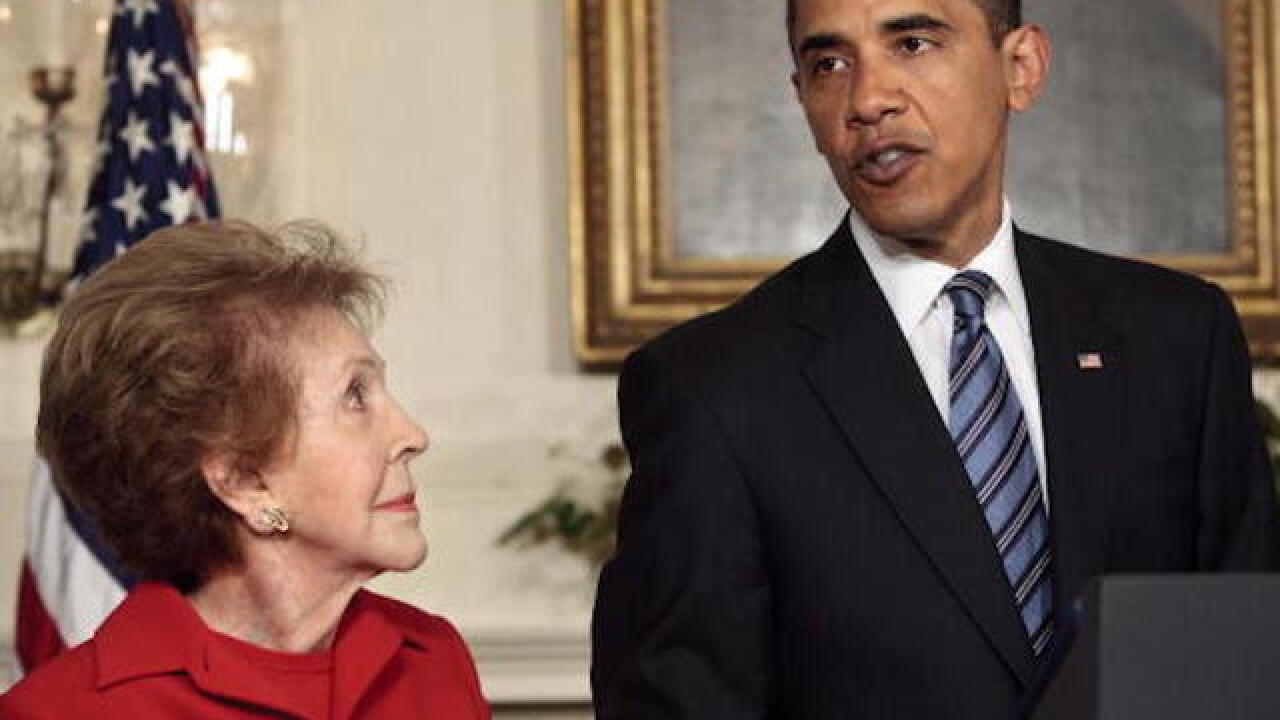 Obamas: Nancy Reagan redfined FLOTUS' role