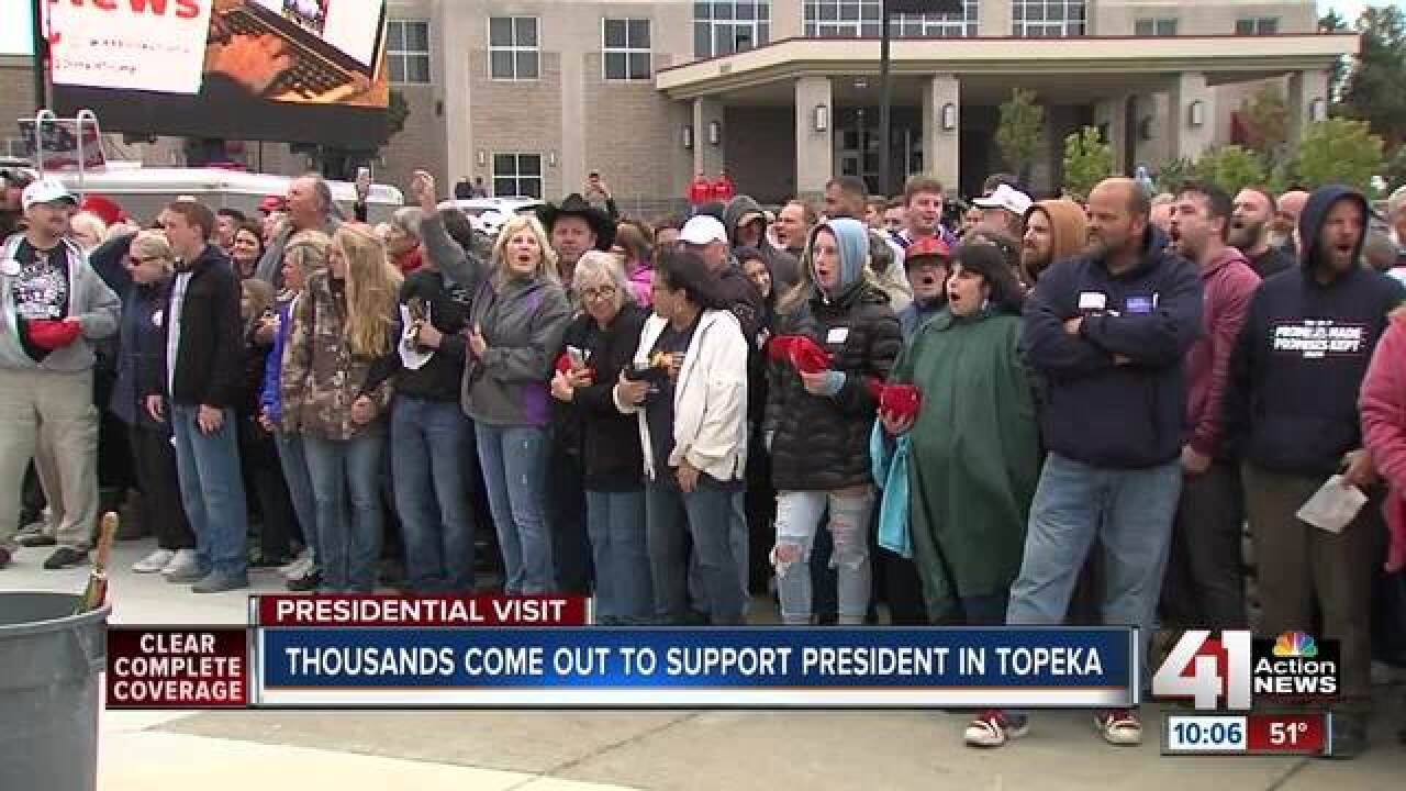 Thousands show up for Trump rally in Topeka