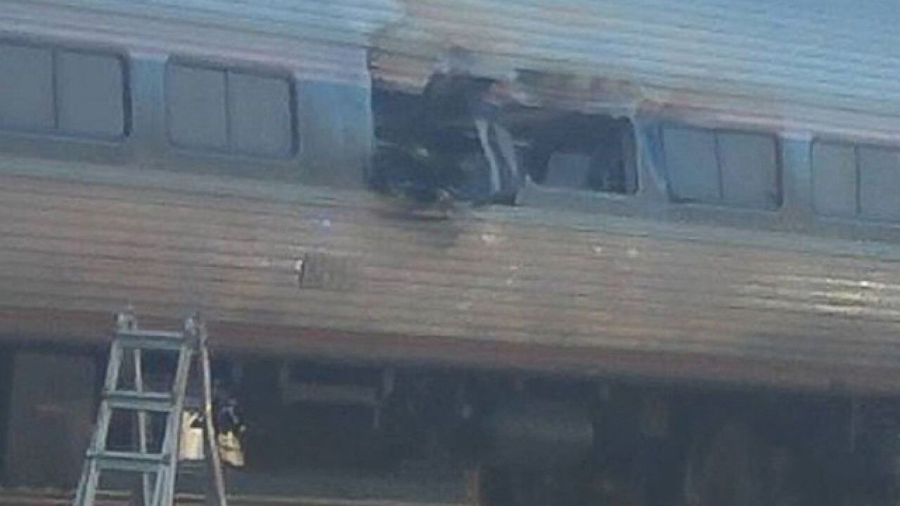 Amtrak crash: 2 dead, 35 hurt  near Philadelphia