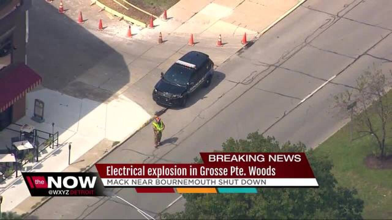 Underground explosion in Grosse Pointe Woods