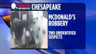 Chesapeake Police trying to identify men who robbed McDonald's, held employee at gunpoint