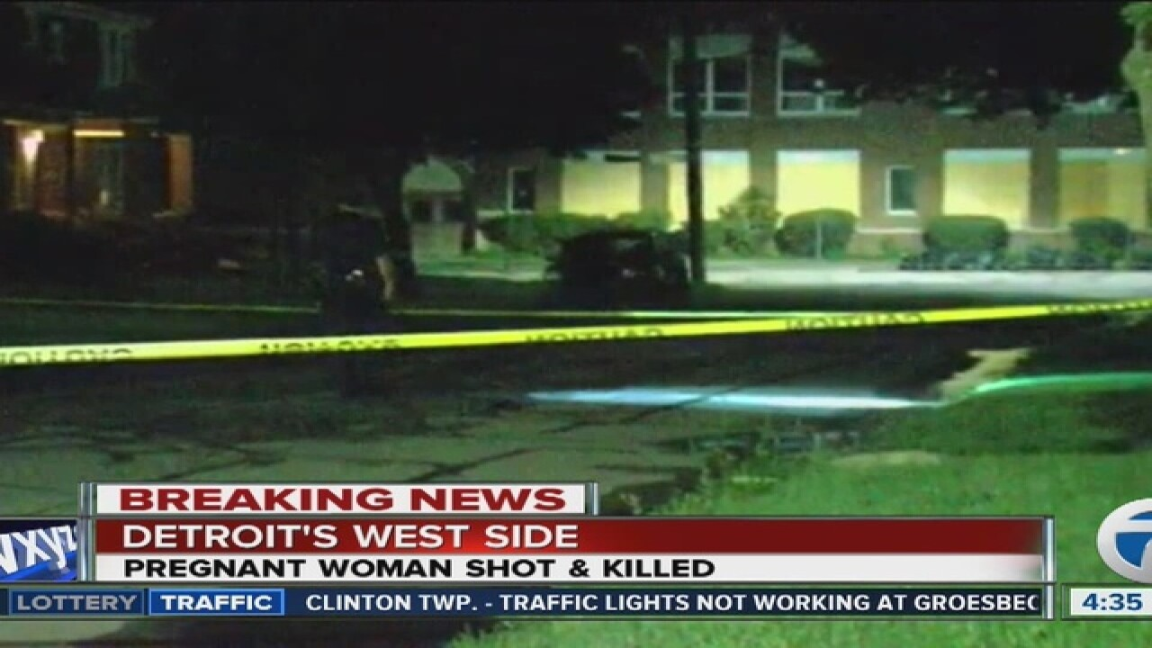 Pregnant woman shot, killed in Detroit