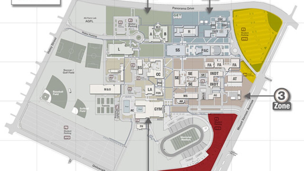 MAP: Upcoming parking lot closures at BC