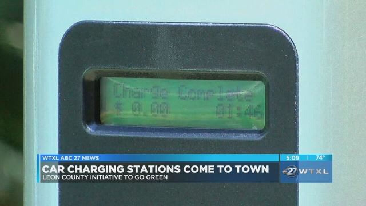Leon County launches car charging stations