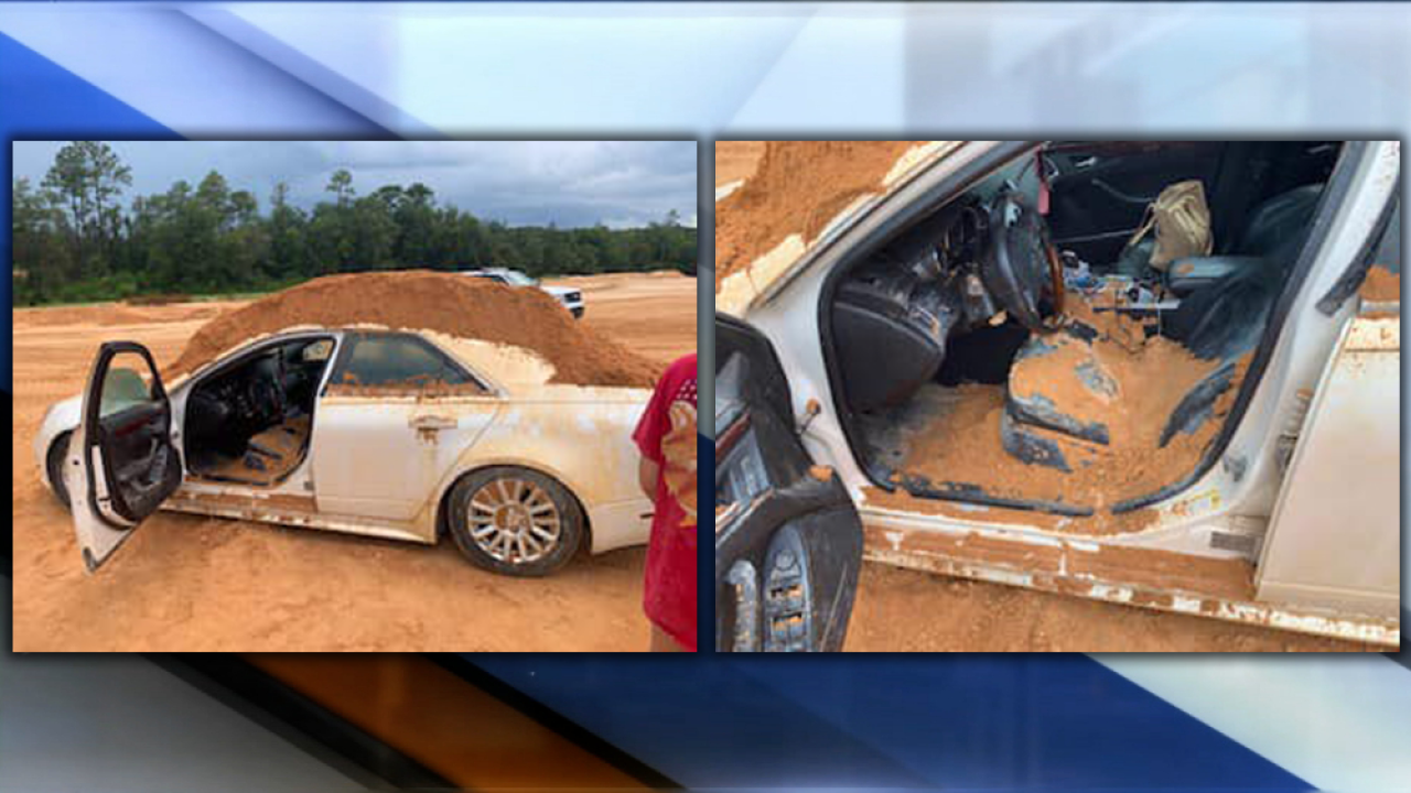 Florida man used front end loader to dump dirt on car his girlfriend was driving, police say