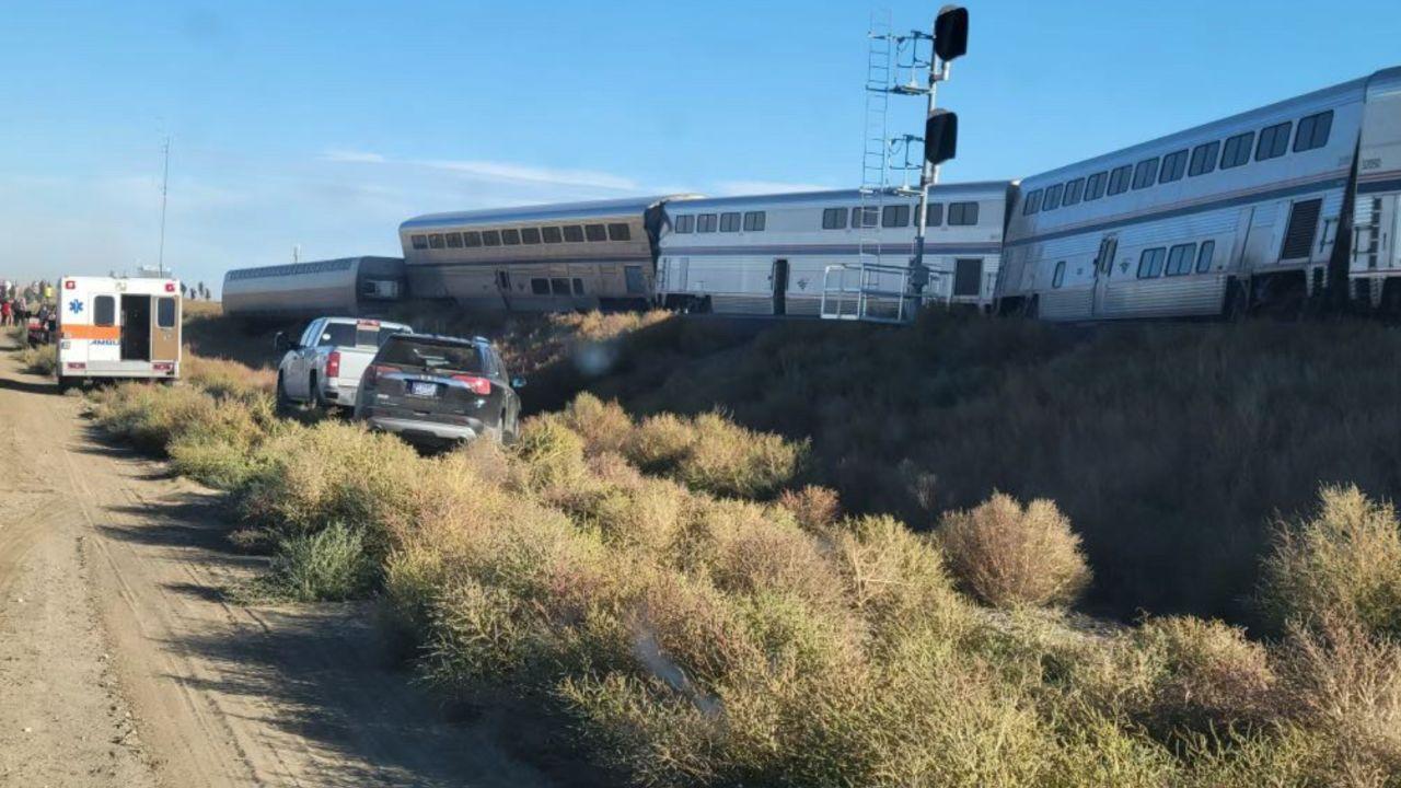Amtrak train derails along Montana's Hi-Line