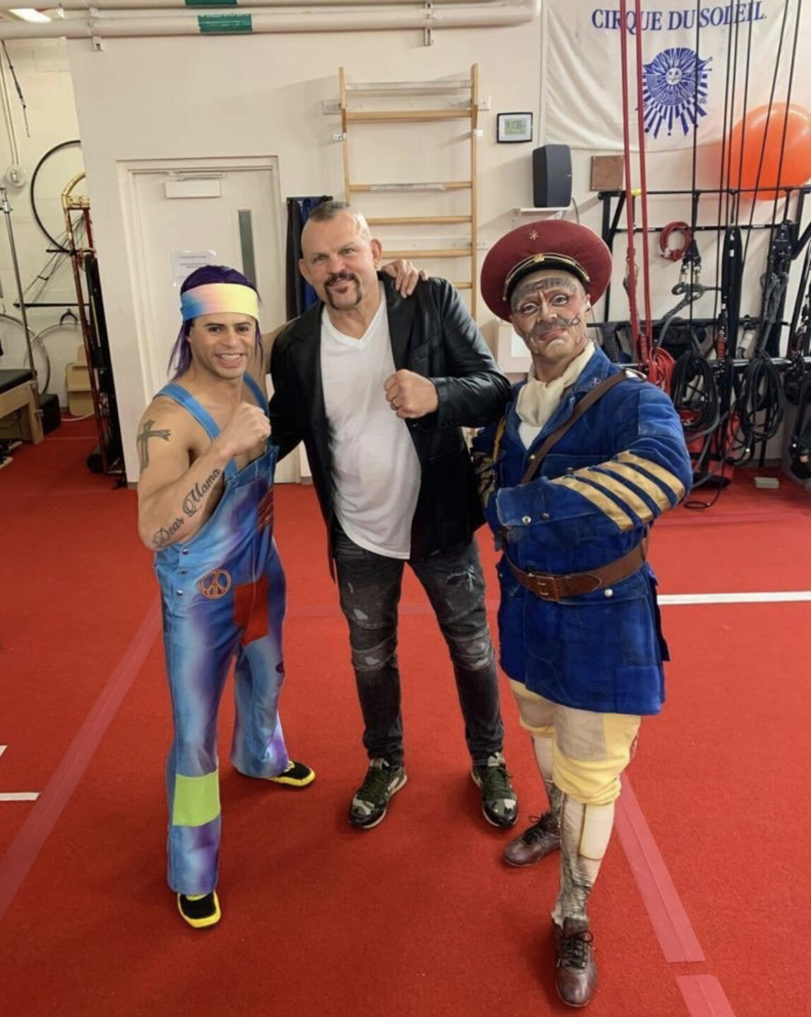 Chuck Liddell Poses with the Characters of LOVE by Cirque du Soleil, Jan. 17, 2020.jpg
