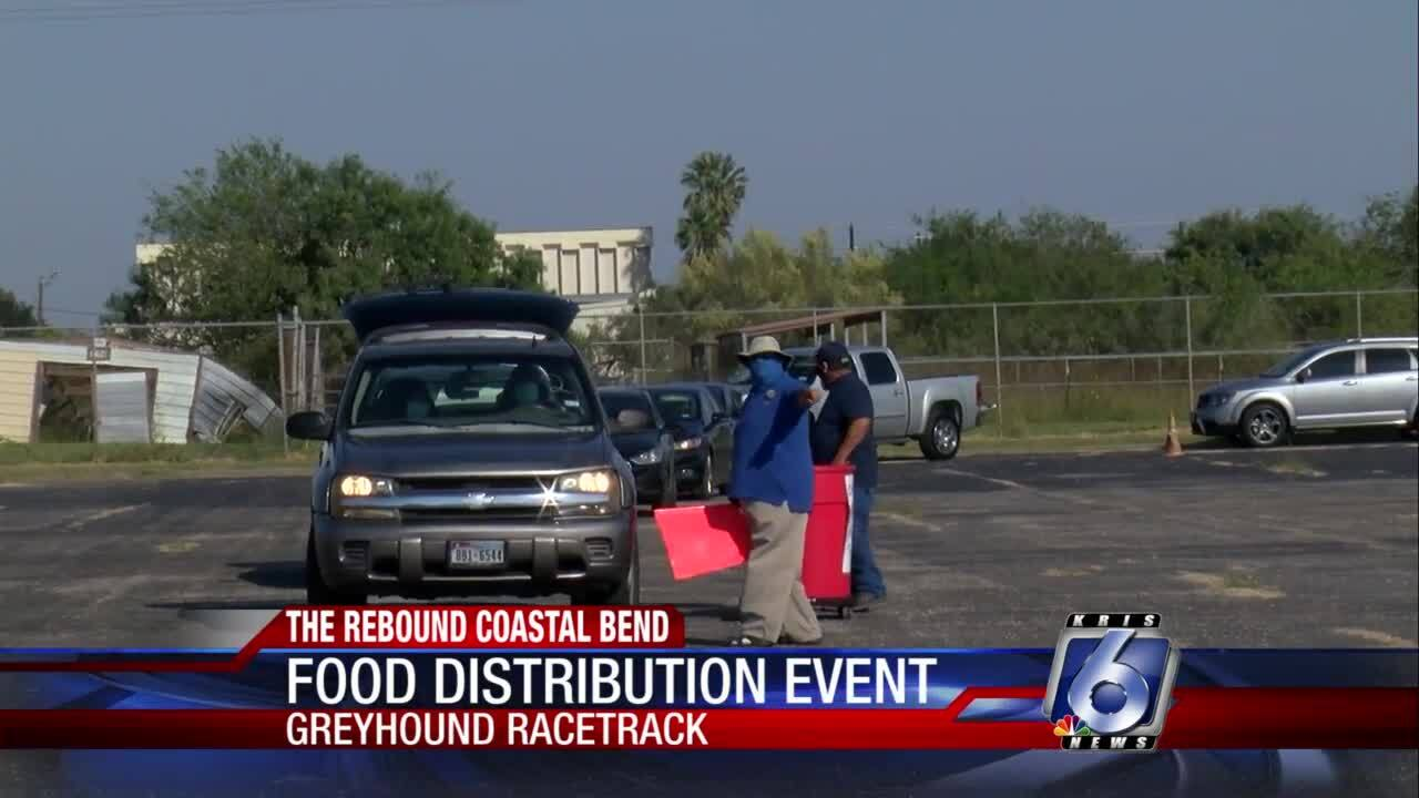 Food distribution event at Greyhound Park
