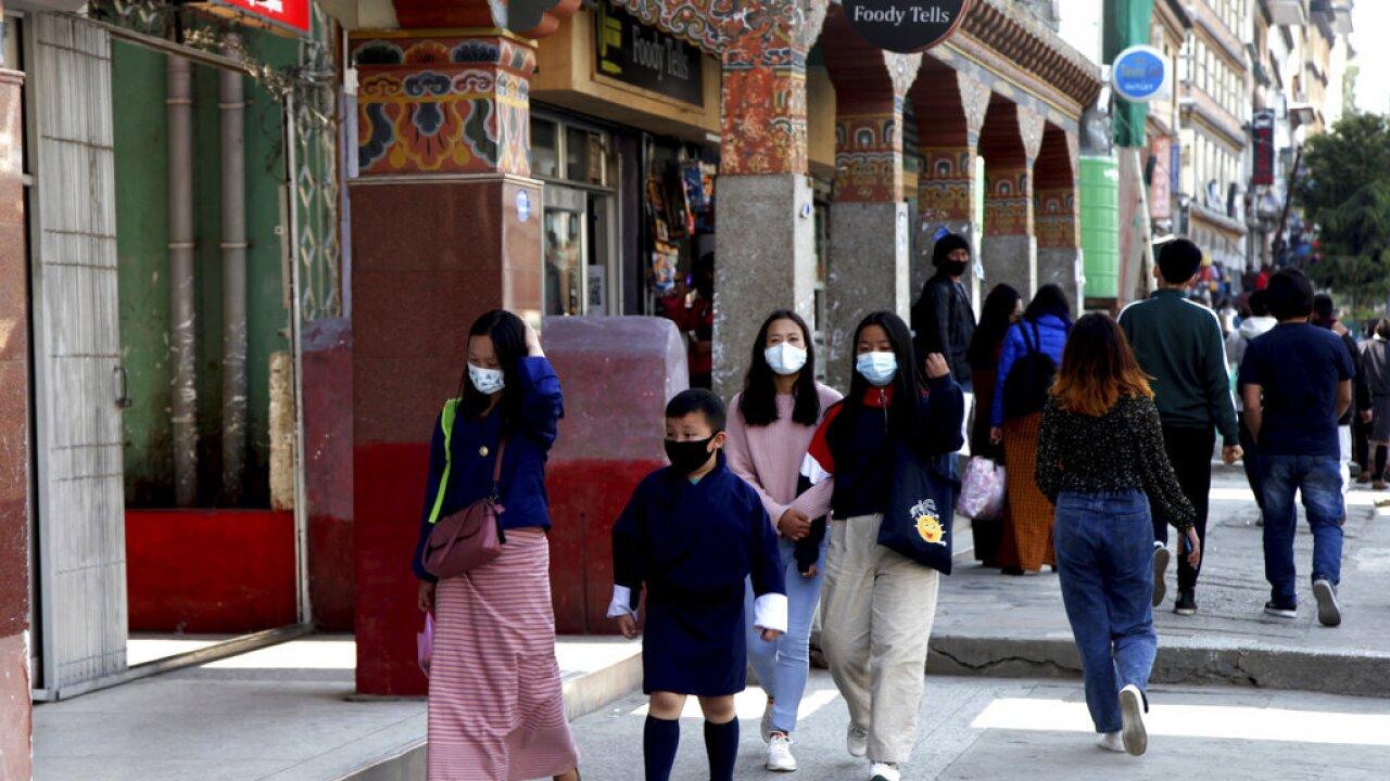 Virus Outbreak Bhutan Vaccinations