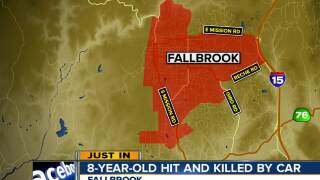 8-year-old hit and killed by on-coming car in Fallbrook