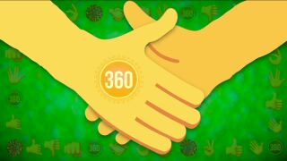 Handshaking after coronavirus 360