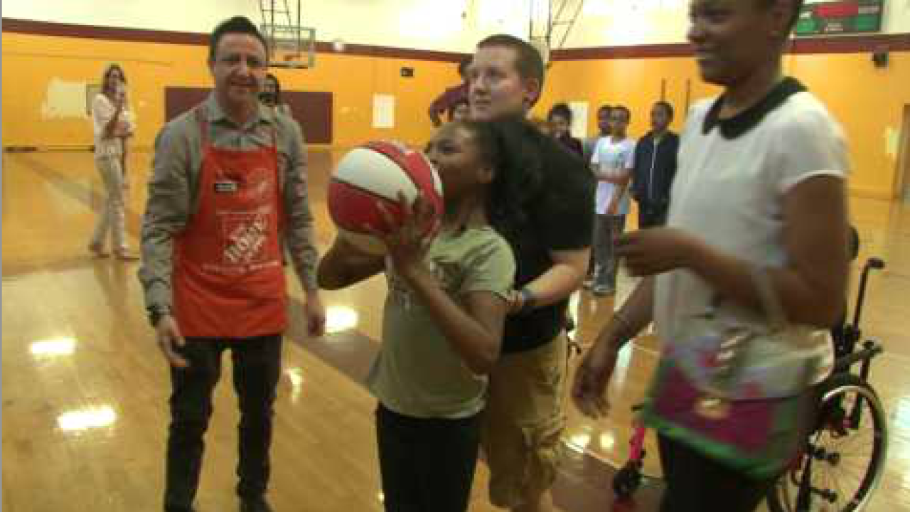 Hampton teacher makes sure everyone can shoot hoops