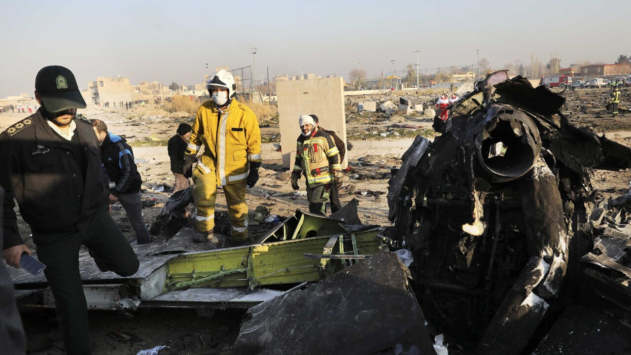 Plane crashes in Iran shortly after takeoff, killing 176 on board