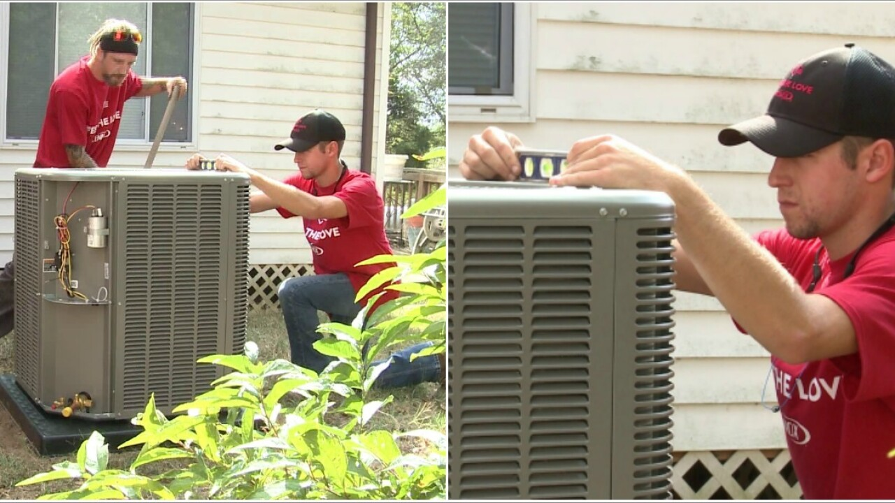 Petersburg woman 'blessed' with free heating, air conditioning system