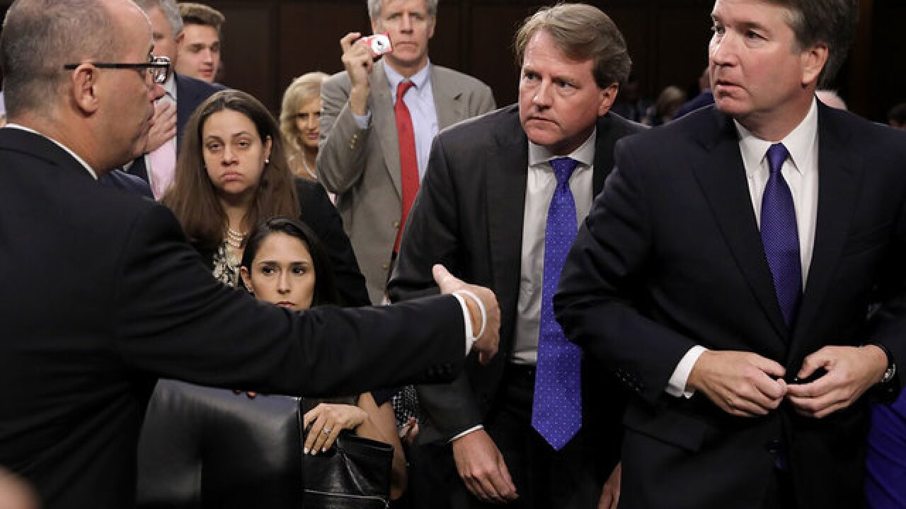 Parkland victim's dad approaches Judge Kavanaugh