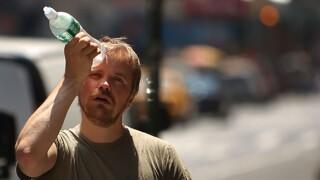 man water bottle heat hot weather