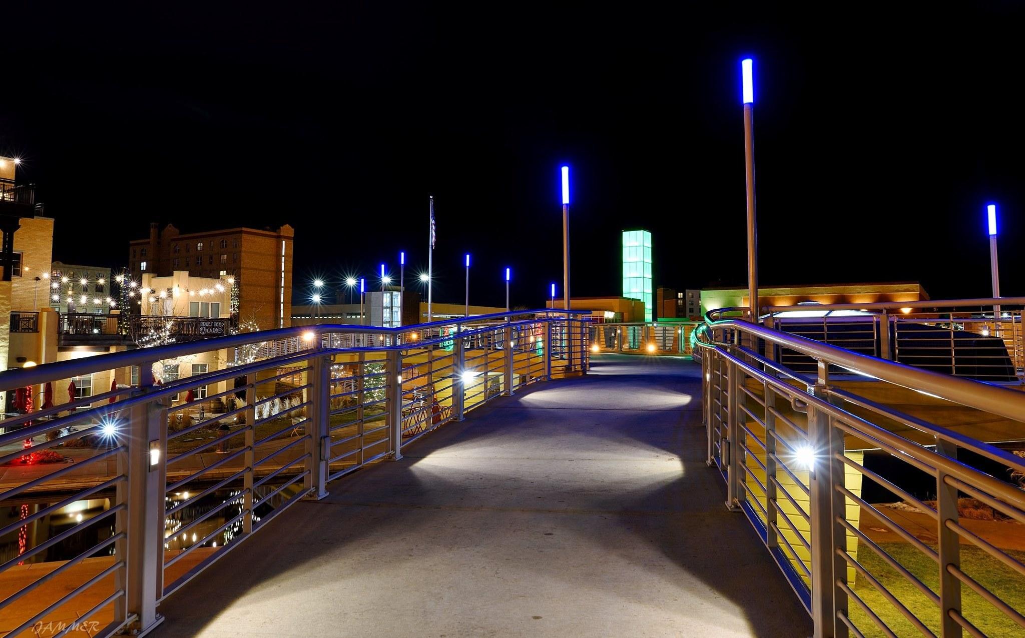 Pueblo at night
