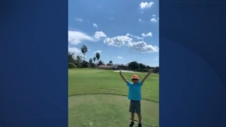 Video: 5-year-old Florida golfer celebrates second hole-in-one