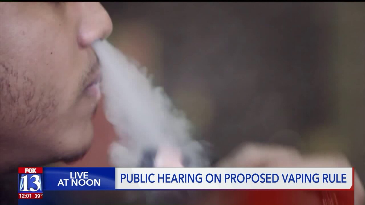 Conflicting opinions at public hearing for proposed vaping rule inUtah