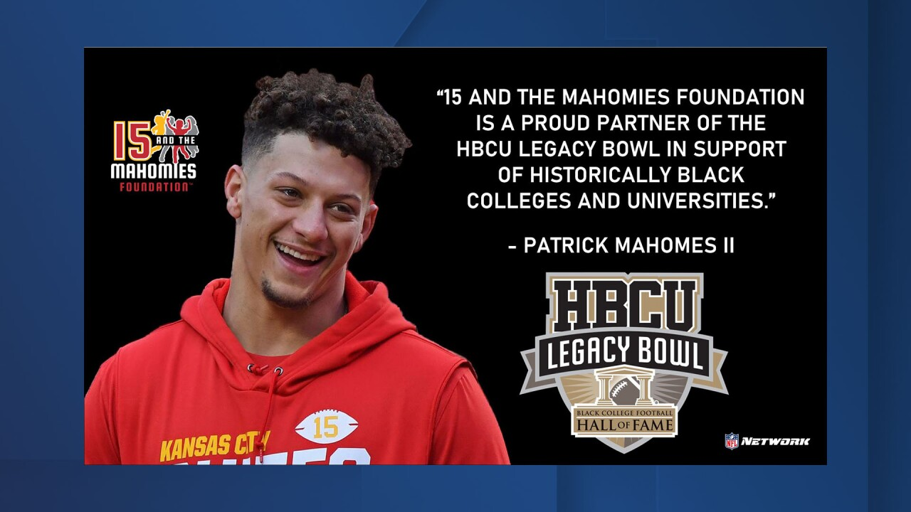 Patrick Mahomes Partners With HBCU Legacy Bowl in Multiyear Commitment