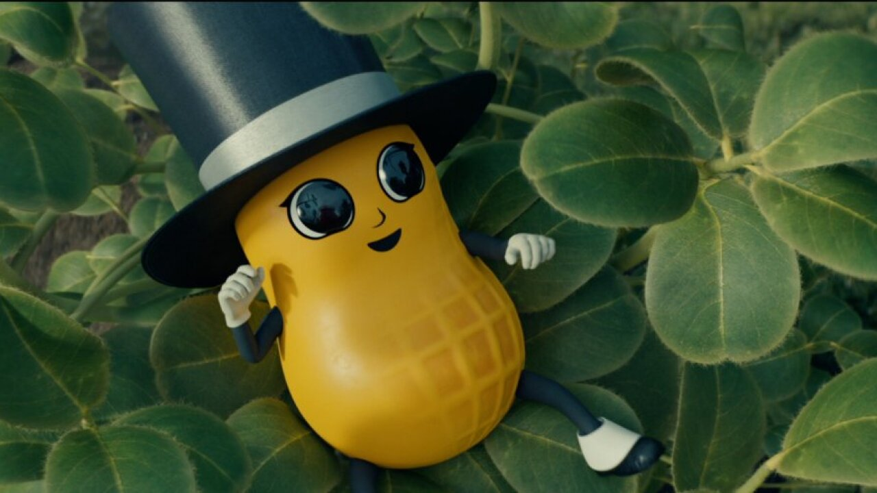He's alive! Mr. Peanut comes back to life as 'Baby Nut' in Super Bowl commercial