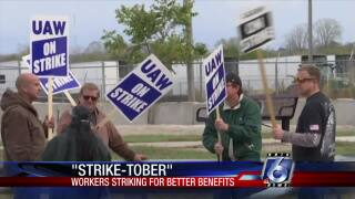 """Workers using """"Strike-tober"""" to demand better benefits"""