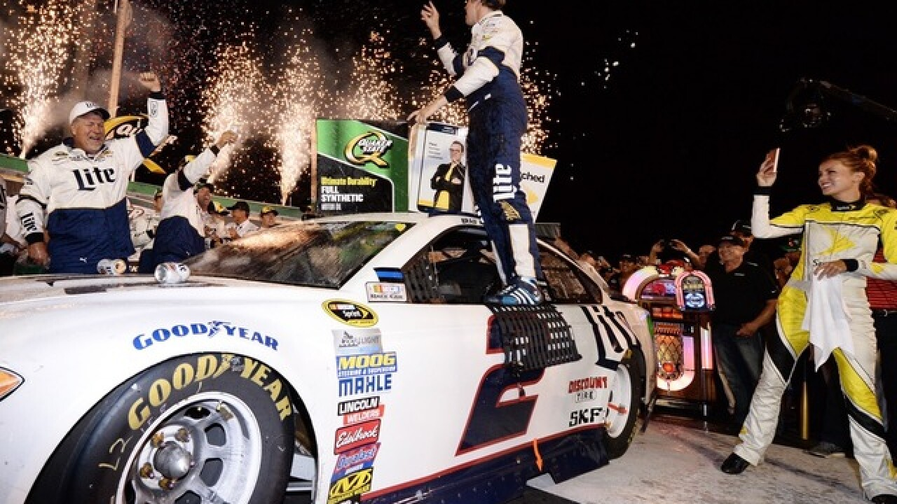 Keselowski wins for 3rd time at Speedway