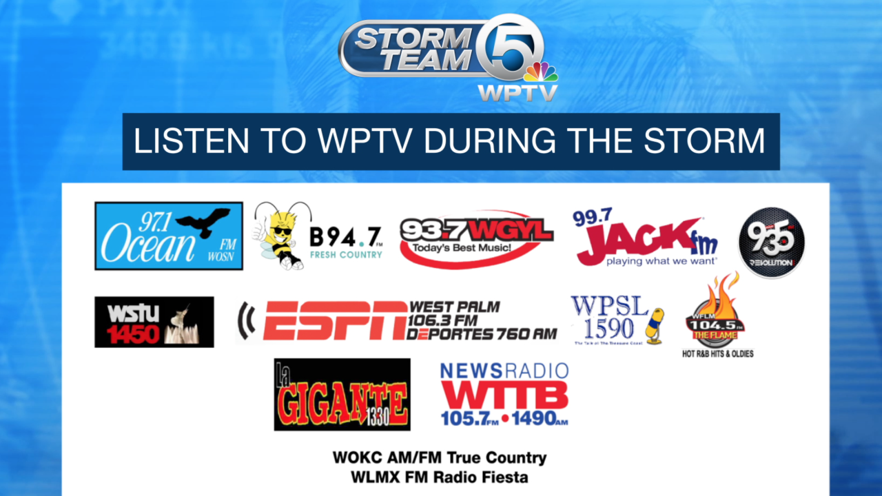 How to listen to and watch WPTV storm coverage when the