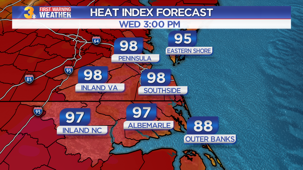 Tuesday's First Warning Forecast: A return to summer-like heat and humidity