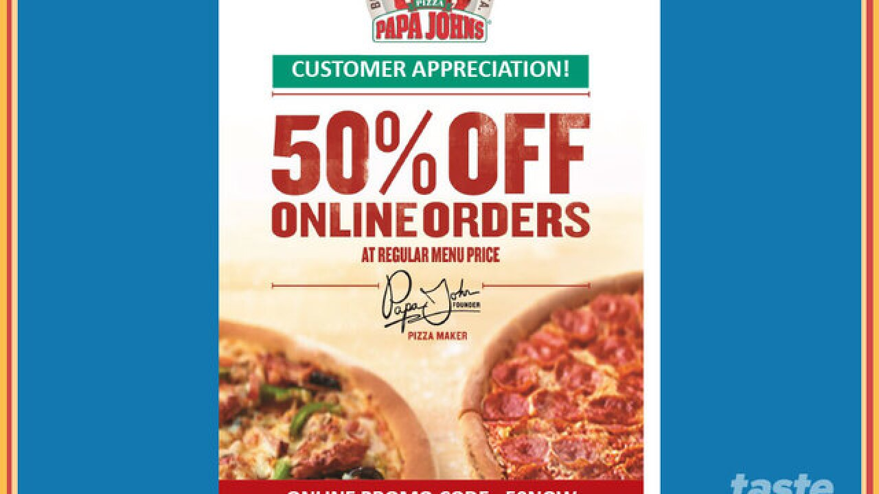 Deal Alerts Get Half Off On Papa Johns Online Order 10 Off 50 Gas Card At Publix