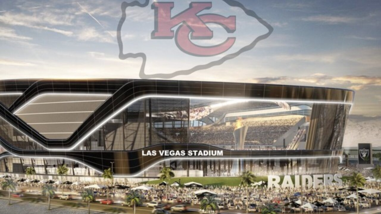 Construction worker allegedly buries Chiefs flag under Raiders stadium site