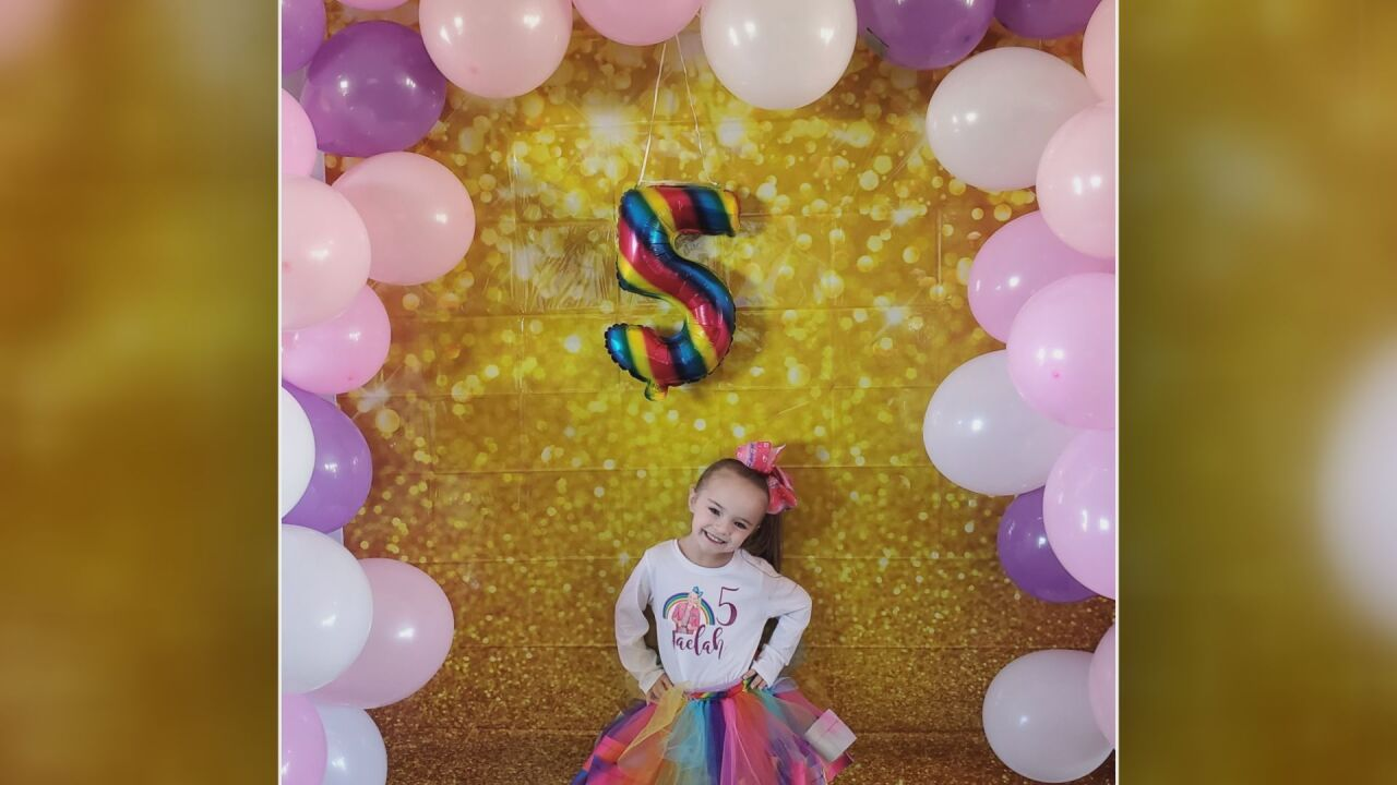 Jaelah Jerger turns five