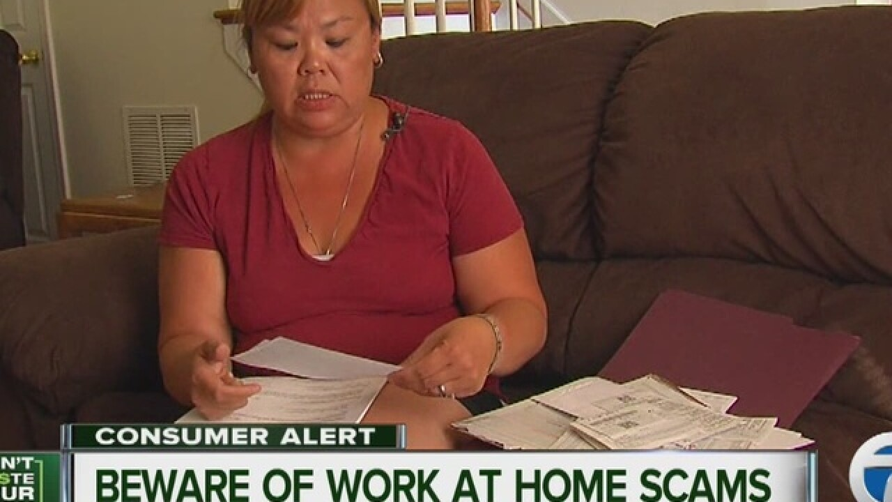 Work-from-home scam cons mom our of $3,000
