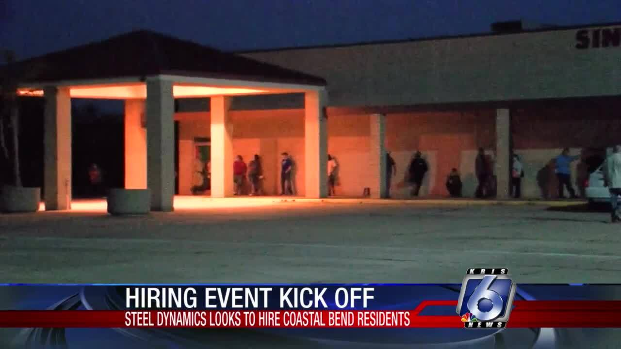 Big turnout for steel mill hiring event