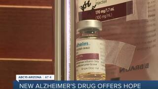 Patient being treated with new Alzheimer's drug recently approved
