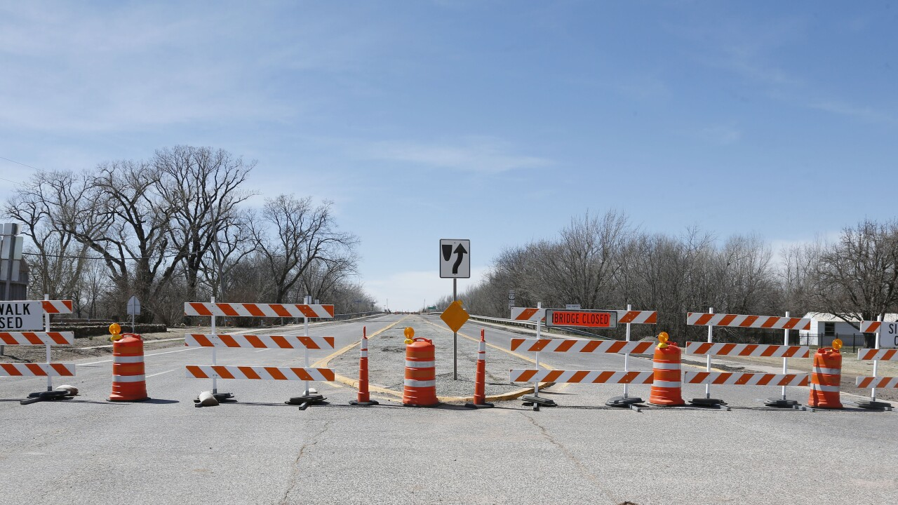 Oklahoma road closed