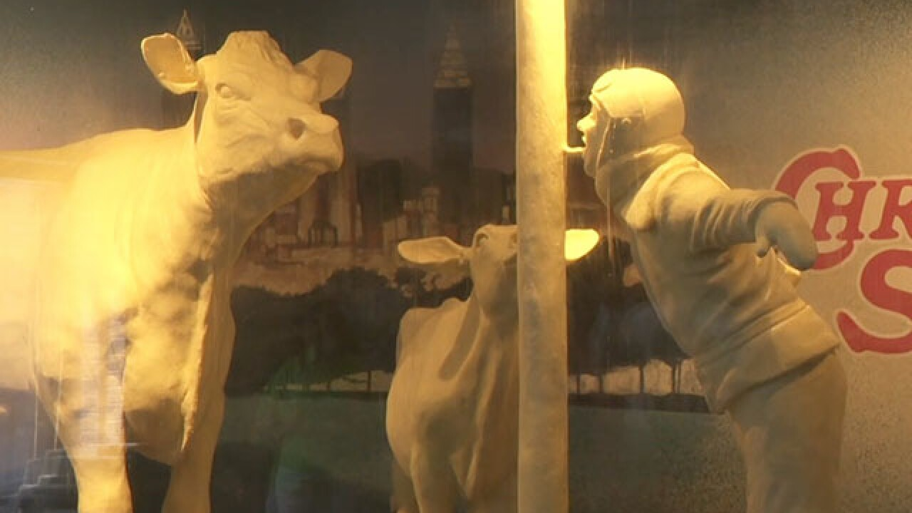 Butter sculptures tell 'A Christmas Story'