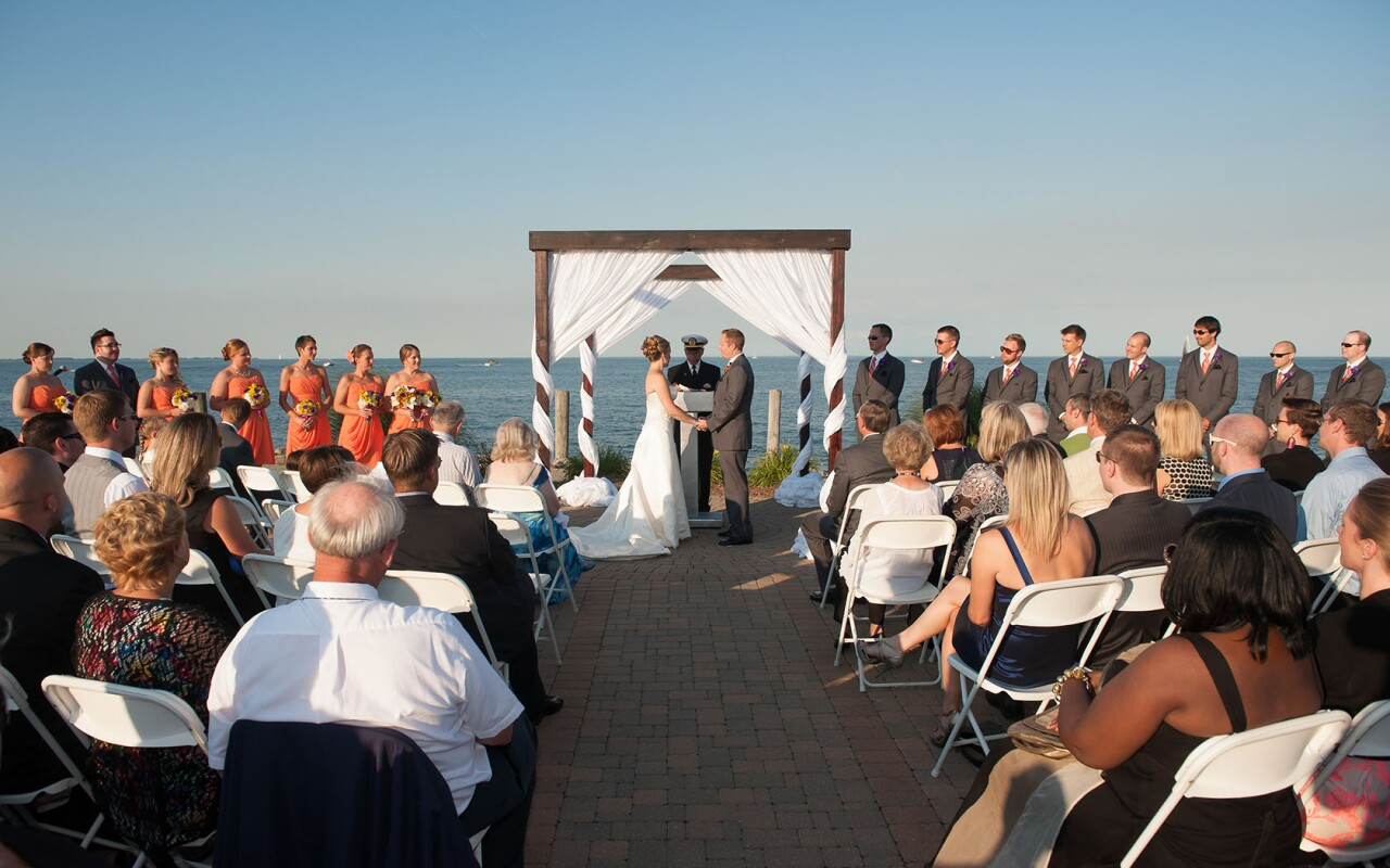 Lake side wedding with Infinity and Ovation Yacht Charter
